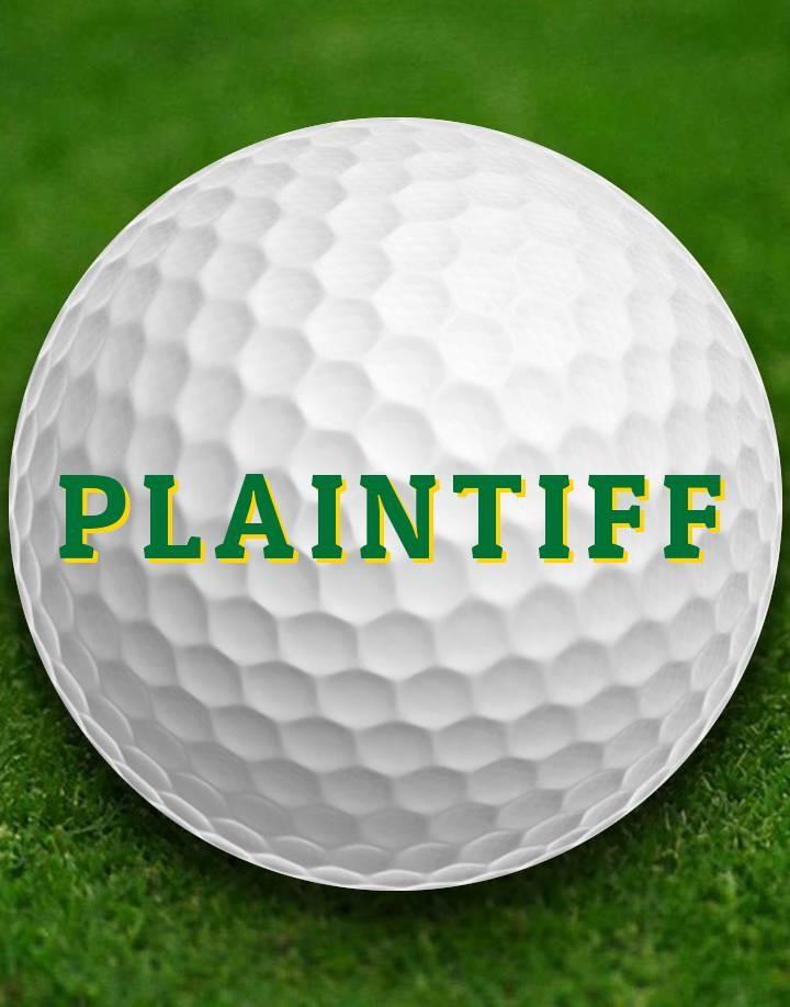 San Diego Attorney Open Golf Tournament Plaintiff Lawyer Entry
